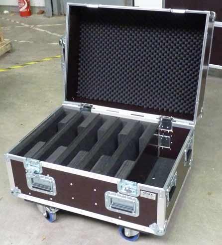 Flight case pour plusiuers écrans avec calage de mousse