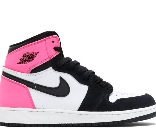 Air Jordan 1 Retro High Og Gg Gs Valentines Day Air Jordan 881426 009 Black Black Hyper Pink White Flight Club