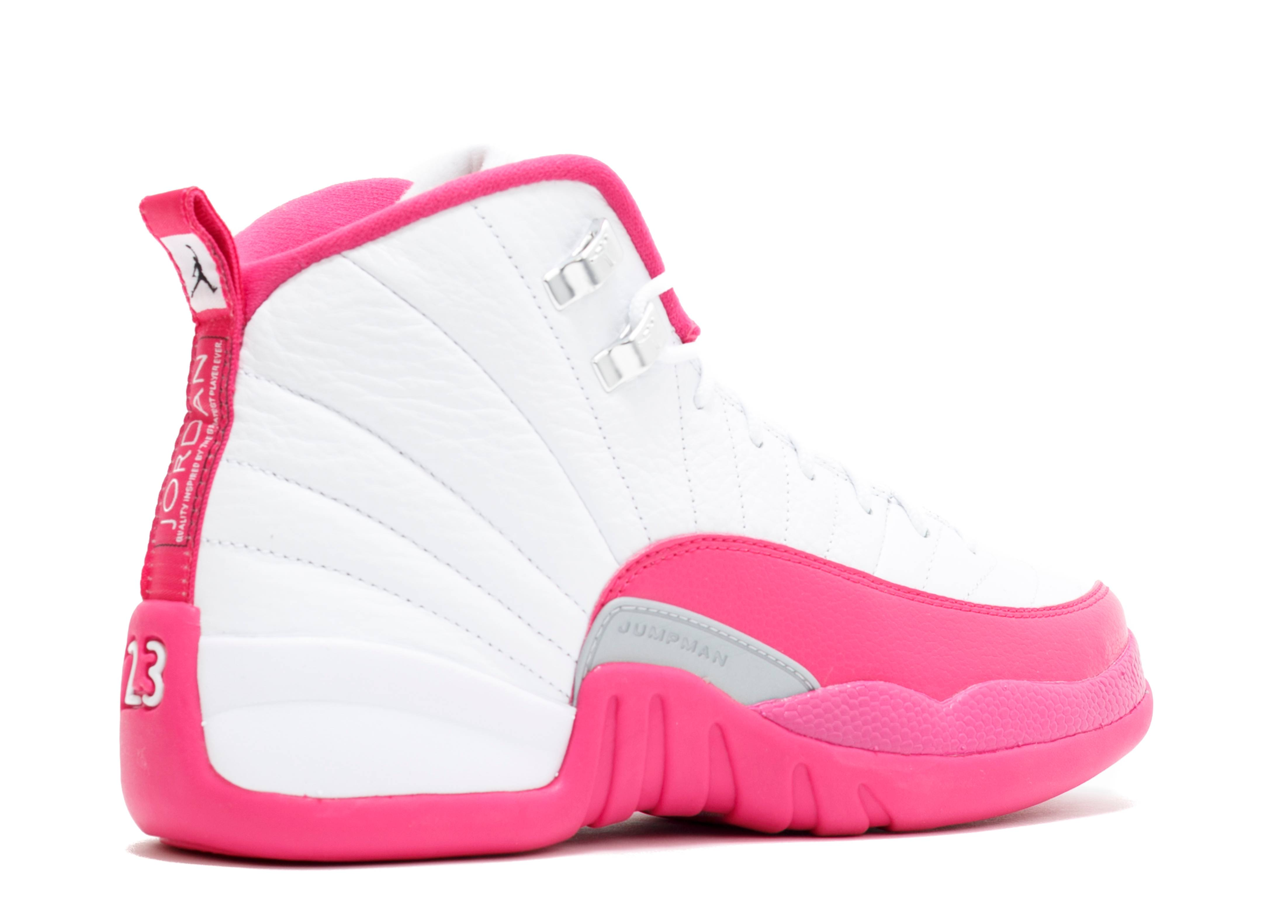 Air Jordan 12 Retro Gg Gs Valentines Day White
