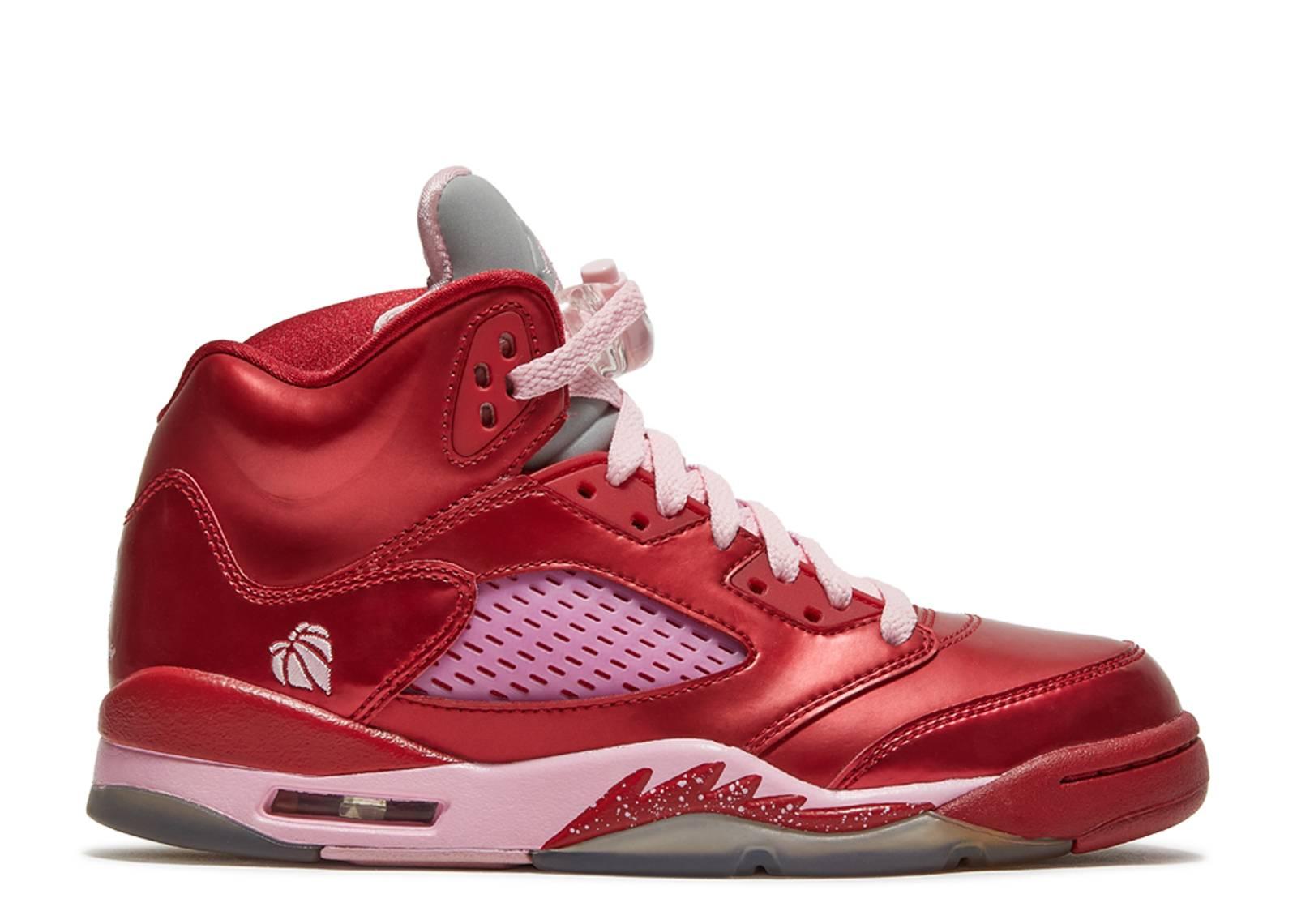 Girls Air Jordan 5 Retro Gs Valentines Day Gym Redion