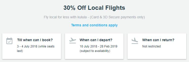 Kulula Flash Sale July 2018