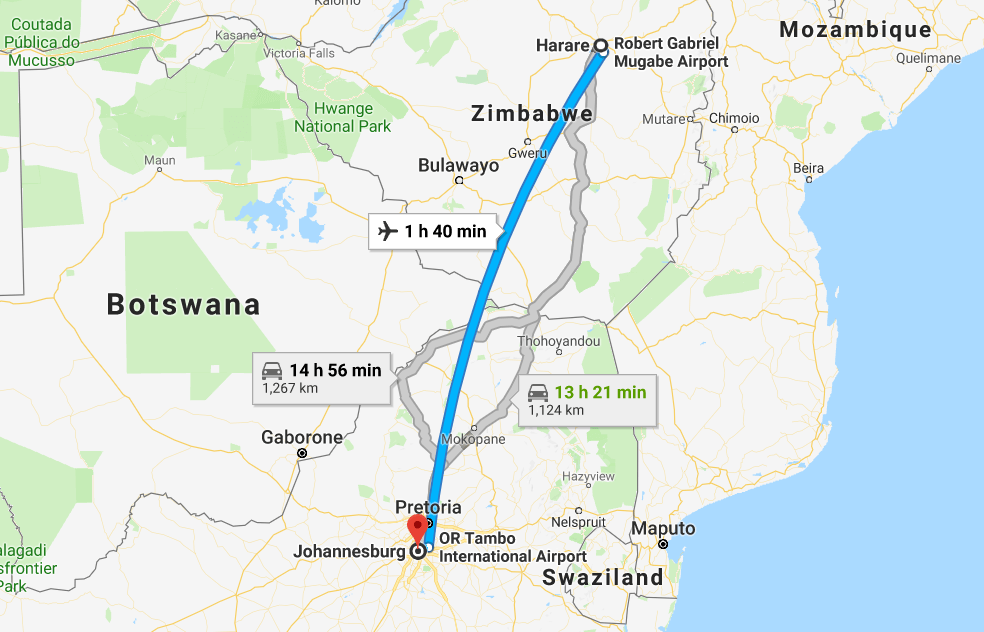 Cheap Flights from Johannesburg to Harare