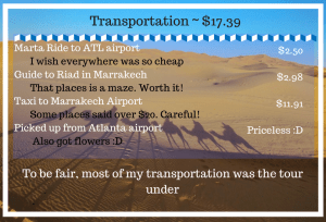 Tour morocco cost