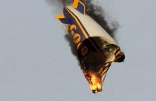 Burning airship Photo: Investigation Report (www.bfu-web.de)
