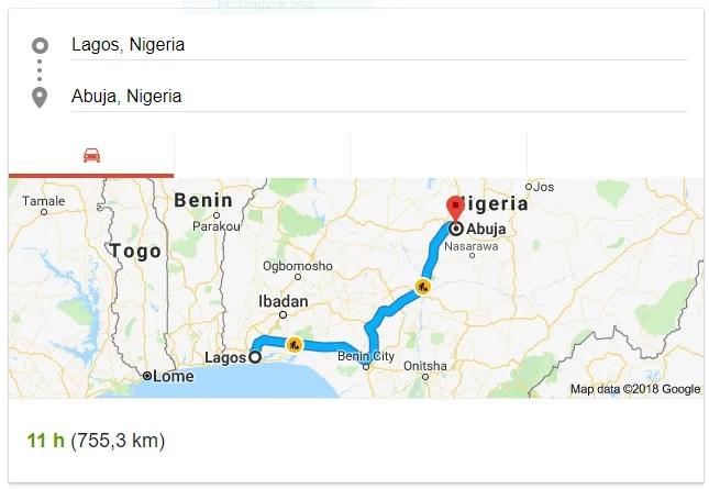 Lagos to Abuja