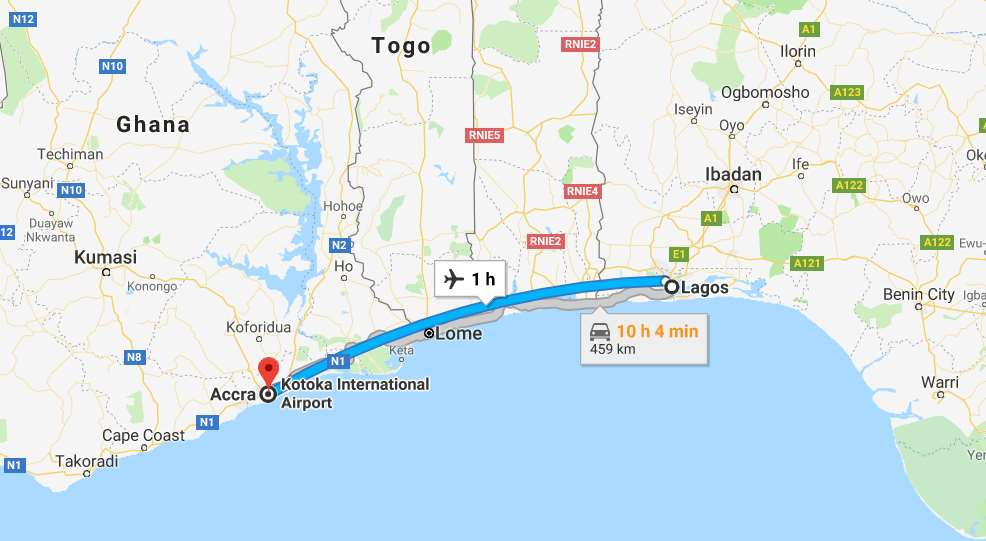 Cheap Flights from Lagos to Accra, Ghana