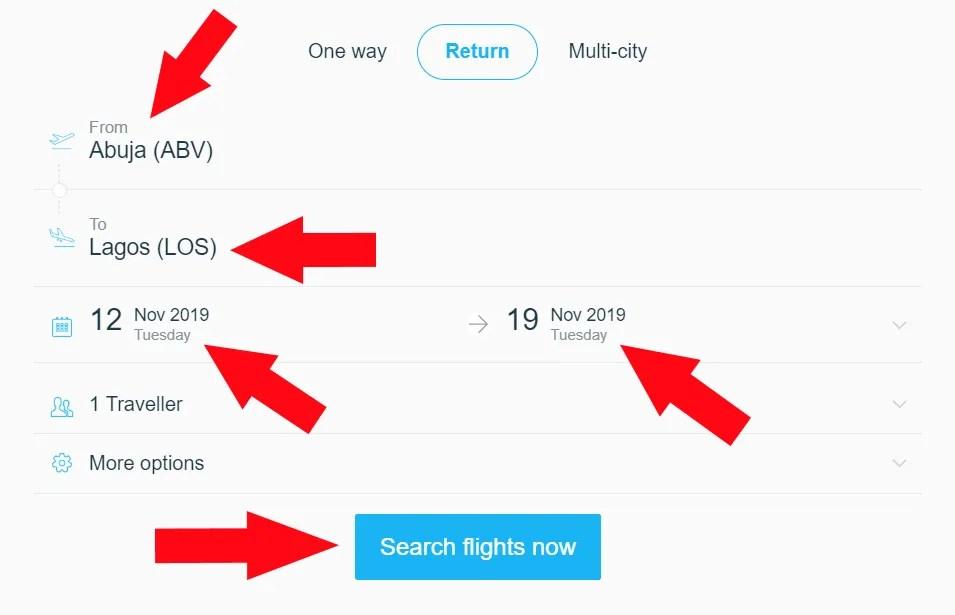 Arik Air Abuja to Lagos Flight Booking