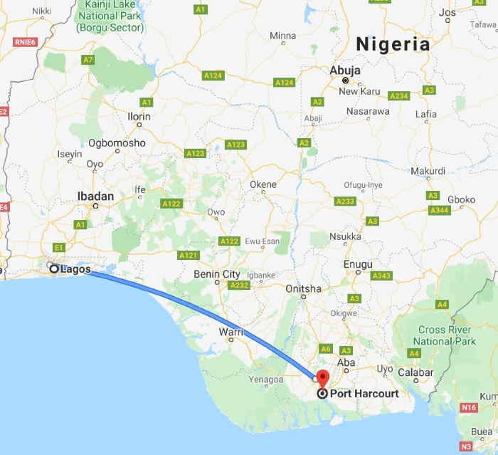 How much is a flight from Lagos to Port Harcourt?