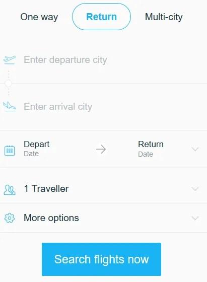 Mobile flight booking blank flightscanner.com.ng