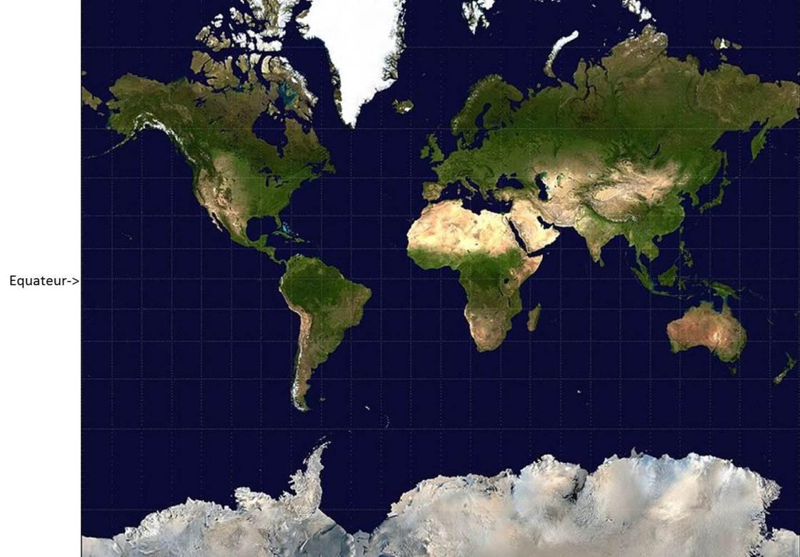 Planisphère Mercator