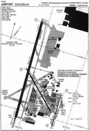 IAP Chart  AIRPORT DIAGRAM  EVERETTSNOHOMISH COUNTY (PAINE FIELD) (PAE)