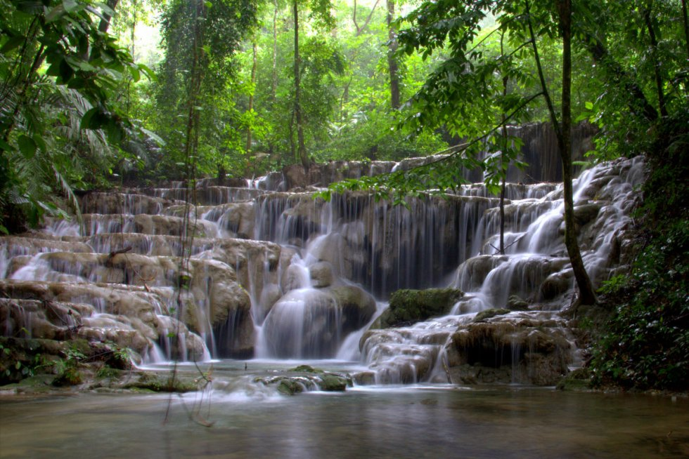 Palenque waterfall