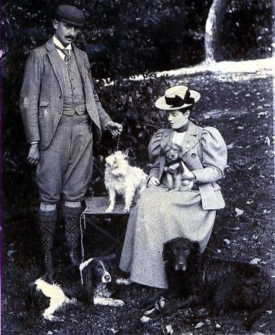 Mold Lt. Col. & Mrs Basil Philips at Rhual