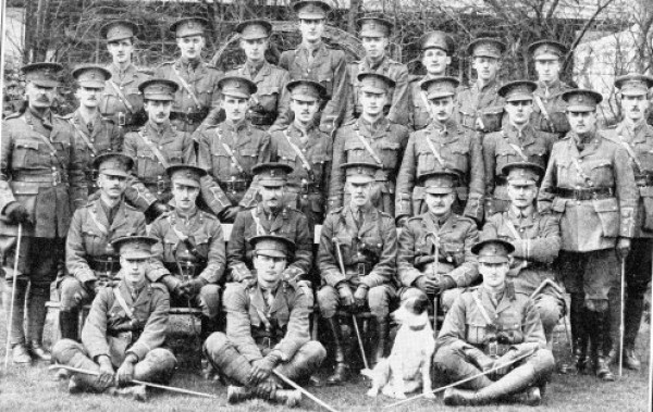 Officers of the 13th Battalion Royal Welsh Fusiliers