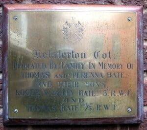 Memorial at Flint Cottage Hospital