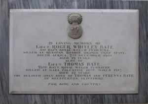 Memorial in St Mark's Church Connah's Quay