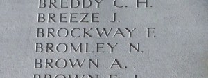 Noah Bromley. Photo taken at the Menin Gate 16th April 2016 by Mavis Williams