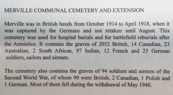 QC Merville Cemetery Description