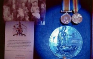 Harry Sharples's Medals and family photo
