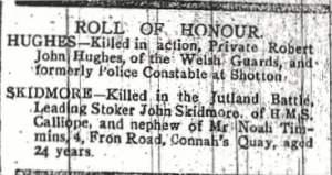 SKIDMORE, John, Leading Stoker County Herald 30 June 1916 2