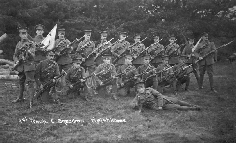 Private Bevan is in the back row fourth from left.