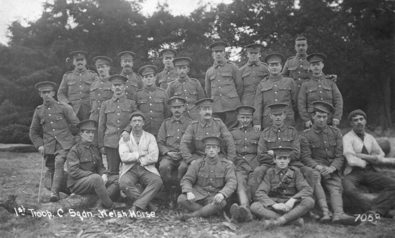 Private Bevan is in the second row third from right.