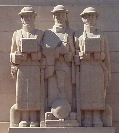 The memorial was designed by G.H. Holt and V.O. Rees, with sculpture by Eric Kennington. It was unveiled by Sir Alexander Hamilton-Gordon on 22 July 1928.