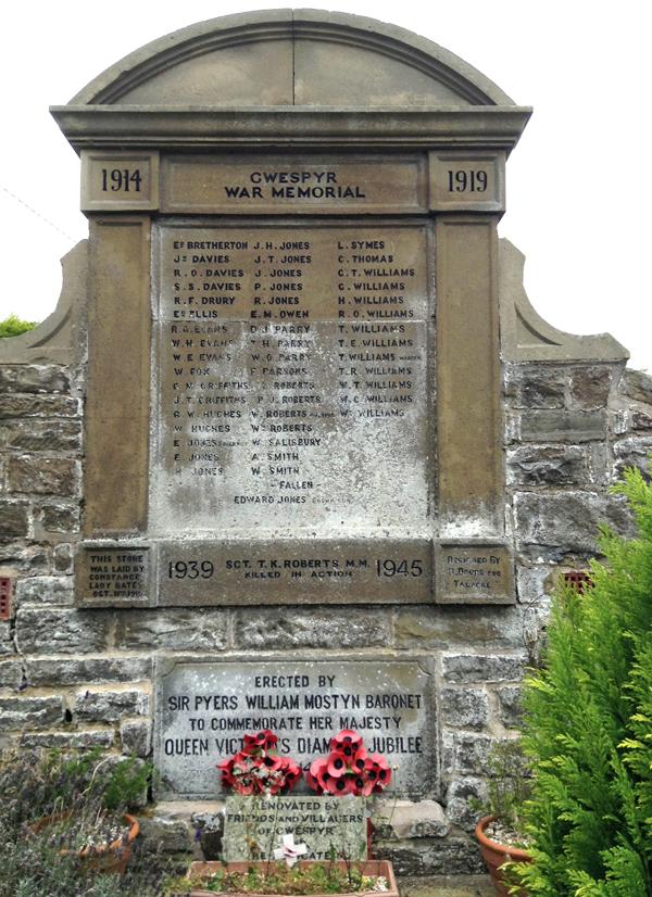 Gwespyr War Memorial