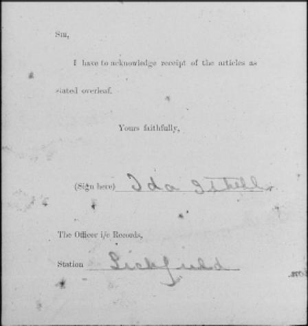 Ida Ithells signature