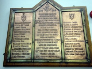 Hawarden County School Roll of Honour 1914 - 1918
