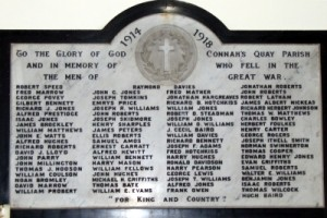 WW1 Plaque in St. Mark's Church