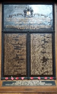 Chester Roll of Honour - Town Hall - Officers 2