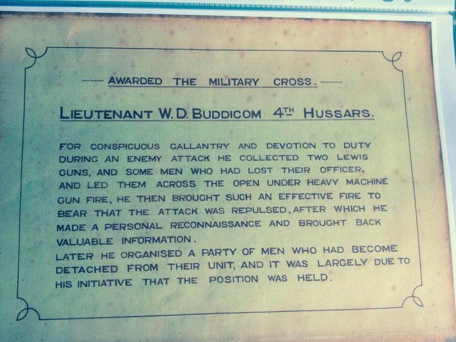 WD Buddicom - citation