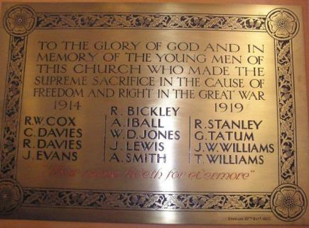 Buckley Cross plaque WWI (2)