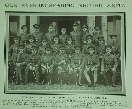 Lt R M Mocatta is on the back row 5th from the left
