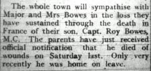 Prestatyn Weekly, 11th August 1917