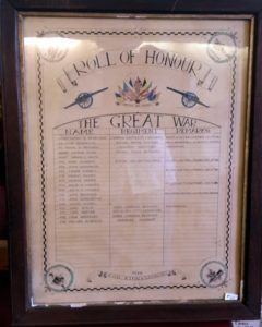 Queensferry Chemical Works Roll of Honour WW1 2