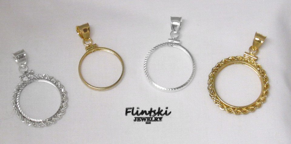 Gold and Silver Coin Bezels
