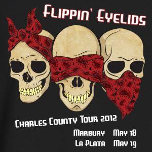 Vintage Flippin' Eyelids T-Shirt (3 skulls 2012 tour)