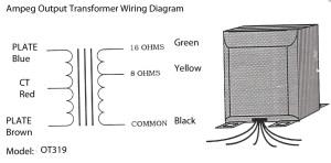Output Transformer OT319471 for Ampeg B25B25BV3B22X