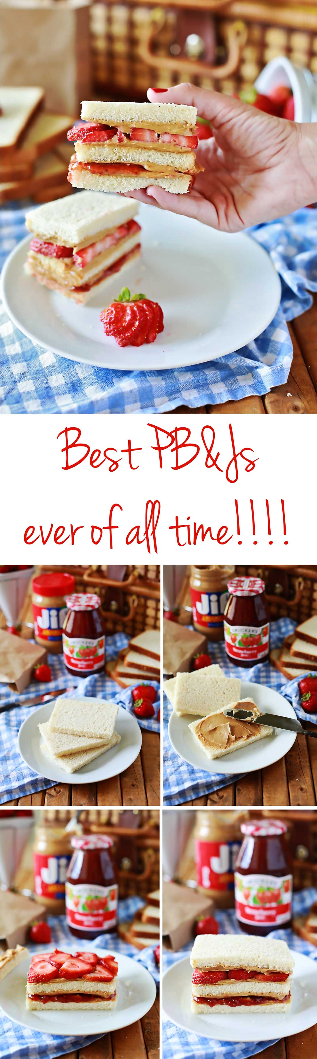 The Ultimate PB&J sandwich by Flirting with Flavor. #PBlove #ad Power their day!