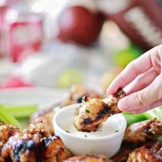 AMAZING Dr Pepper Habanero glazed wings by Flirting with Flavor