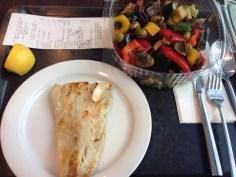 Fisch + Salat