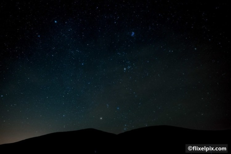 The mournes at night