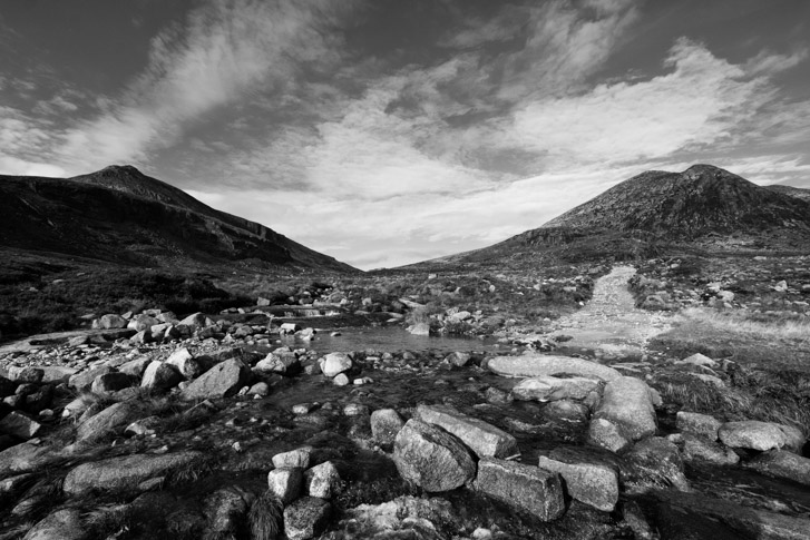 stream, blue lough, mournes