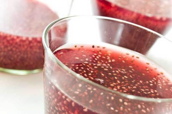 Cherry Lime Chia Fresca