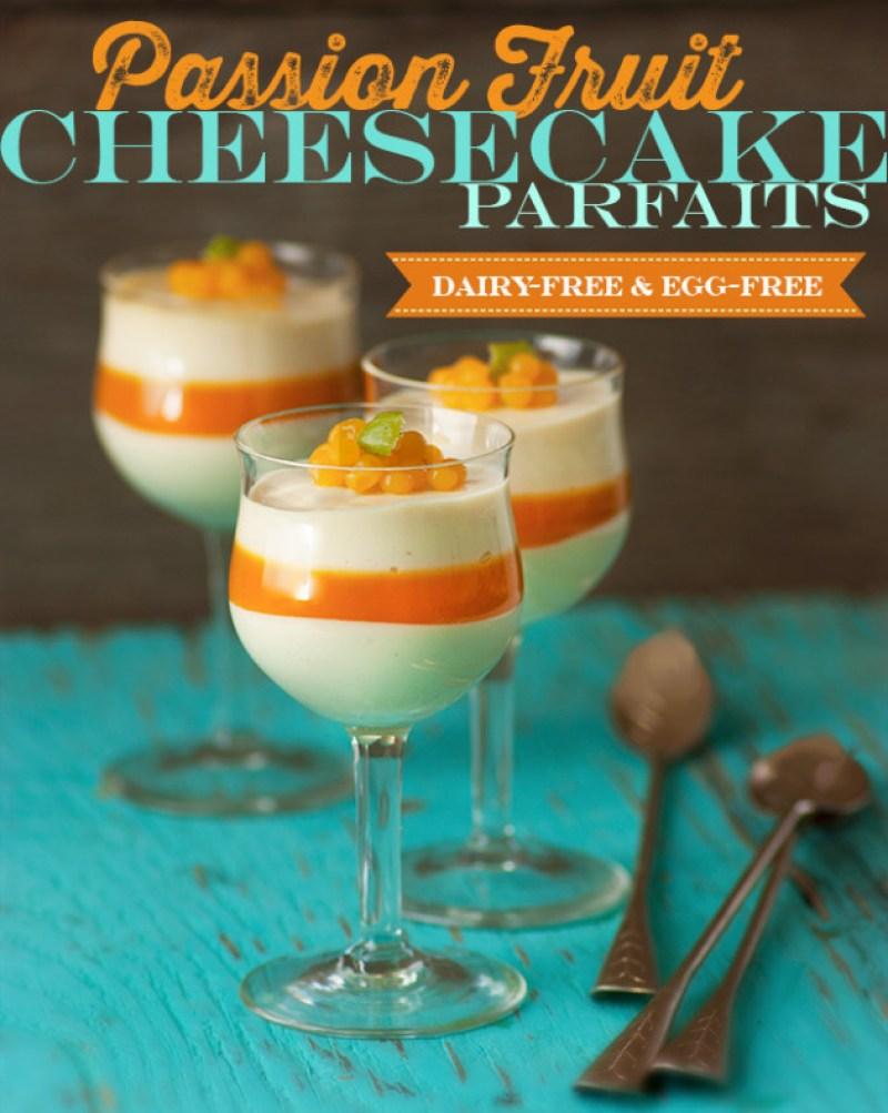 Passion Fruit Cheesecake Parfaits | Dairy-Free & Vegan