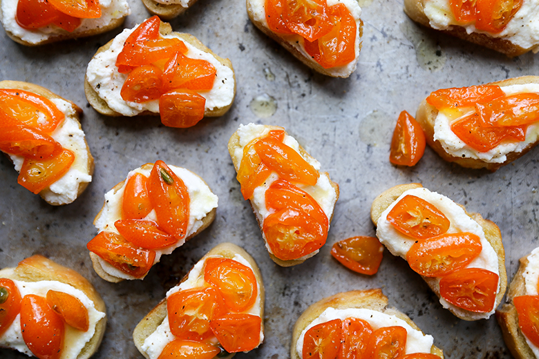 Spicy Kumquat and Whipped Ricotta Crostini   Floating Kitchen Spicy Kumquat and Whipped Ricotta Crostini