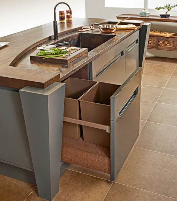Trash Can Solutions Small Kitchen