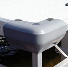 Corner bumper accessory for docks.